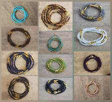 Multi Stones & Golden Pyrite 3-4mm Roundel Faceted Beaded Gold Plated Necklaces