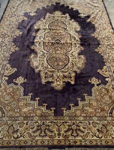 "Antique Royalty Silk European CRUSHED VELVET TAPESTRY RUG WALL 75"" X 51"""