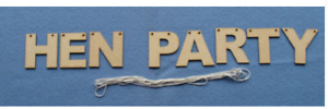 Wooden MDF Hen Party Banners 7.5cm mdf craft blanks