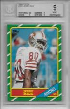 1986 Topps Jerry Rice RC #161... Graded BGS 9 Mint