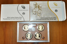 United States Mint 2014-S Presidental $1 Coins Set w/Box & COA