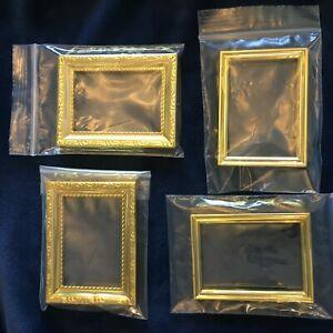 Dollhouse Miniature Empty Frames Picture Frame Photo Frame; Lot 4 frames