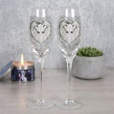 Anne Stokes boxed pair of Champagne Flutes