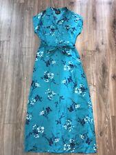 Yumi Kim Blue Turquoise Long Button Up dress Medium