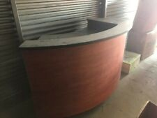 Circular Pos counter in good condition.shelves for computer.Pos.and other