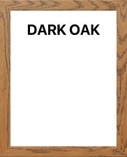 "6""x 4"" (15.24 x 10.16) cm Dark Oak Modern Wooden Picture Frames"