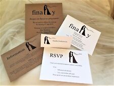 Wedding Invitations from 80p each, with matching wedding stationery