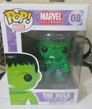 Lou Ferrigno Signed Incredible Hulk Funko Pop Figure COA Rare Green signature #8