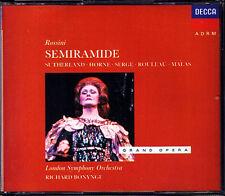 ROSSINI SEMIRAMIDE Joan Sutherland Marilyn Horne Rouleau Malas Fyson BONYNGE 3CD