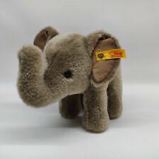 """Steiff 7"""" Trampili Elefant Elephant Animal 064487 Germany Plush Stuffed Grey"""