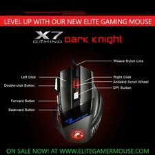 Ergonomic Wired Gaming Mouse 7 Button LED 5500 DPI USB Computer Mouse Gamer Mice