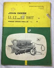 Vintage John Deere Operator's Manual LL, LZ & HZ Unit- OM-M61900 Issue A9 Book