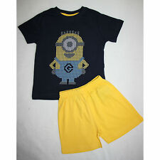 DESPICABLE ME pyjashort taille 2-3 ans pyjama MINIONS marine et jaune  neuf