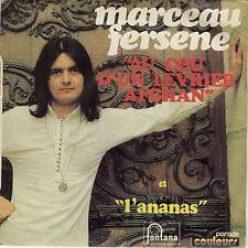 SP 45 tours Marceau Fersene Au cou d'un lévrier afghan / L'ananas 1971 EXC