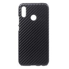 Huawei P20 Lite Hard Case Carbon Fiber Optik Muster Schutz Hülle Schale Schwarz