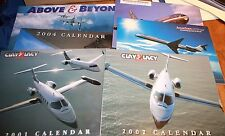 Six Vintage Calendars with airplanes