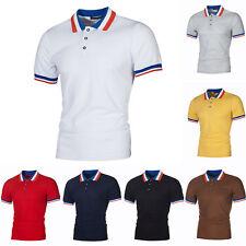 Herren Poloshirt Kurzarm T-Shirt Polo Freizeithemd Golf Slim Fit Shirts Tops Tee