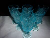 L.G. Wright 6 Beautiful Daisy Button Goblets