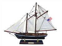 """America 16"""" - Wooden Model Sailboat - Ready To Display -Model Sailing Yacht - Sa"""