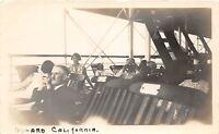 D98/ U.S.S. California Ship Ca Non-Postcard Photograph 1929 Passengers Deck