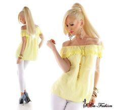 Damenblusen,-Tops & -Shirts im Tuniken-Stil mit Kurzarm-Ärmelart ohne Muster für Freizeit