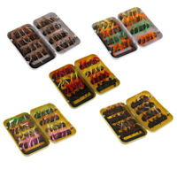 32Pcs Trout Baits Dry Fly Fishing Flies 10# Hooks Feather Baits Kit with Box