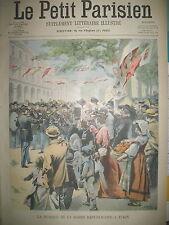 TURIN MUSIQUE GARDE REPUBLICAINE BUCKINGHAM SANTé DU ROI LE PETIT PARISIEN 1902