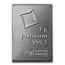 PLATINUM BULLION INVESTMENT BAR | 1 GRAM | BRAND NEW | RARER THAN GOLD & SILVER