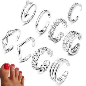 Women's Toe Rings Small Finger Ring Band Silver, Yellow Gold or Rose Gold