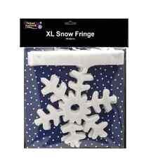 Copo de Nieve Brillo Navidad Cortina Flecos frontera 2m Decorativa Decoración 54682