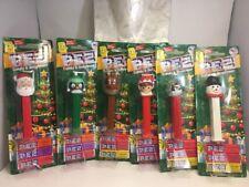 Pez Christmas Edition Complete Set 6 Santa Penguin Reindeer Elf Snow Globe Snowm