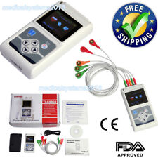 ECG/EKG System 3 channel 12 Leads Holter Monitor 24 Hours.PC Software Factory
