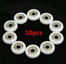 10 un. rodamientos de acero al carbono 5*23*7mm Nylon Polea Ruedas de plástico