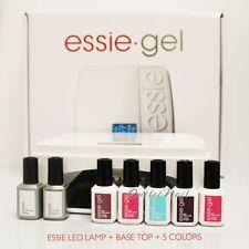 ESSIE Gel Starter Basic Nail Kit: LED LAMP Light + Base Top + 5 UV Color Set