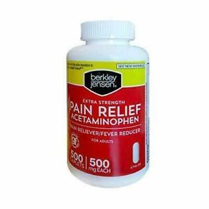 Berkley Jensen Extra Strength Pain Reliever, 500 ct.