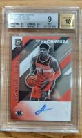 2019 Donruss Optic Rui Hachimura Signature Series Rookie RC Auto *BGS 9/10