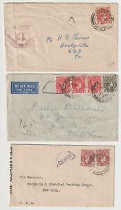 D3095: (3) Nigeria WW II Censored Covers, Usage!!