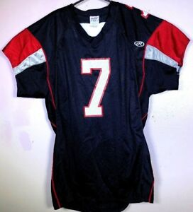 Michael Vick #7 Atlanta Falcons Rawlings Jersey XL EUC Authentic Fit Black Red