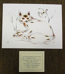 EDDY COBINESS 4-Color Lithograph Art RED FOX 60/400 Signed Ltd Edition NEW V51D