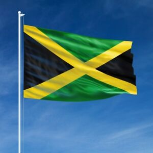 Jamaica 🇯🇲 Jamaican flag 5 x 3 With 2 Metal Eyelets