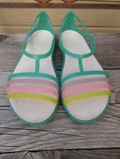 CROCS Isabella Multi Color Sandals Women's 10