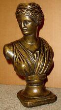 GREEK ROMAN DIANA BUST SCULPTURE ANTIQUE GOLD