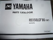 YAMAHA RD 350 LC F2 1WT PARTS LIST MANUAL CATALOGUE RZ 350 161WT-300E1.