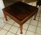Mahogany Satinwood Mid Century Rosewood Inlaid Coffee Table   CT11