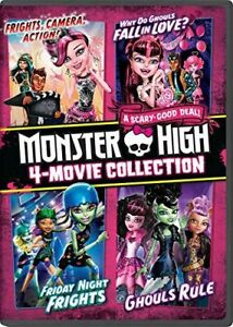 MONSTER HIGH 4 -MOVIE COLLECTION NEW DVD