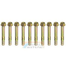 Pack 10 M10x80 HEX NUT SLEEVE ANCHOR Wall Heavy Duty Fixing Brick Masonry Rawl