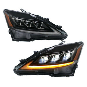 VLAND All LED Headlights Fit For Lexus IS 250 IS 350 IS F with Amber Reflector