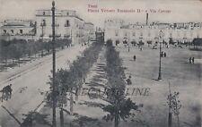TRANI: Piazza Vittorio emanuele II e via Cavour