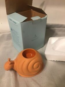 Boxed Terracotta Tea Light  Candle Holder Tortoise By Partylite