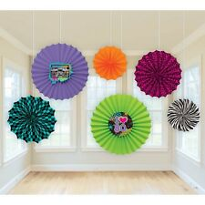 """""""TOTALLY 80'S""""  Pack of 6 - Paper Fan Decorations!"""